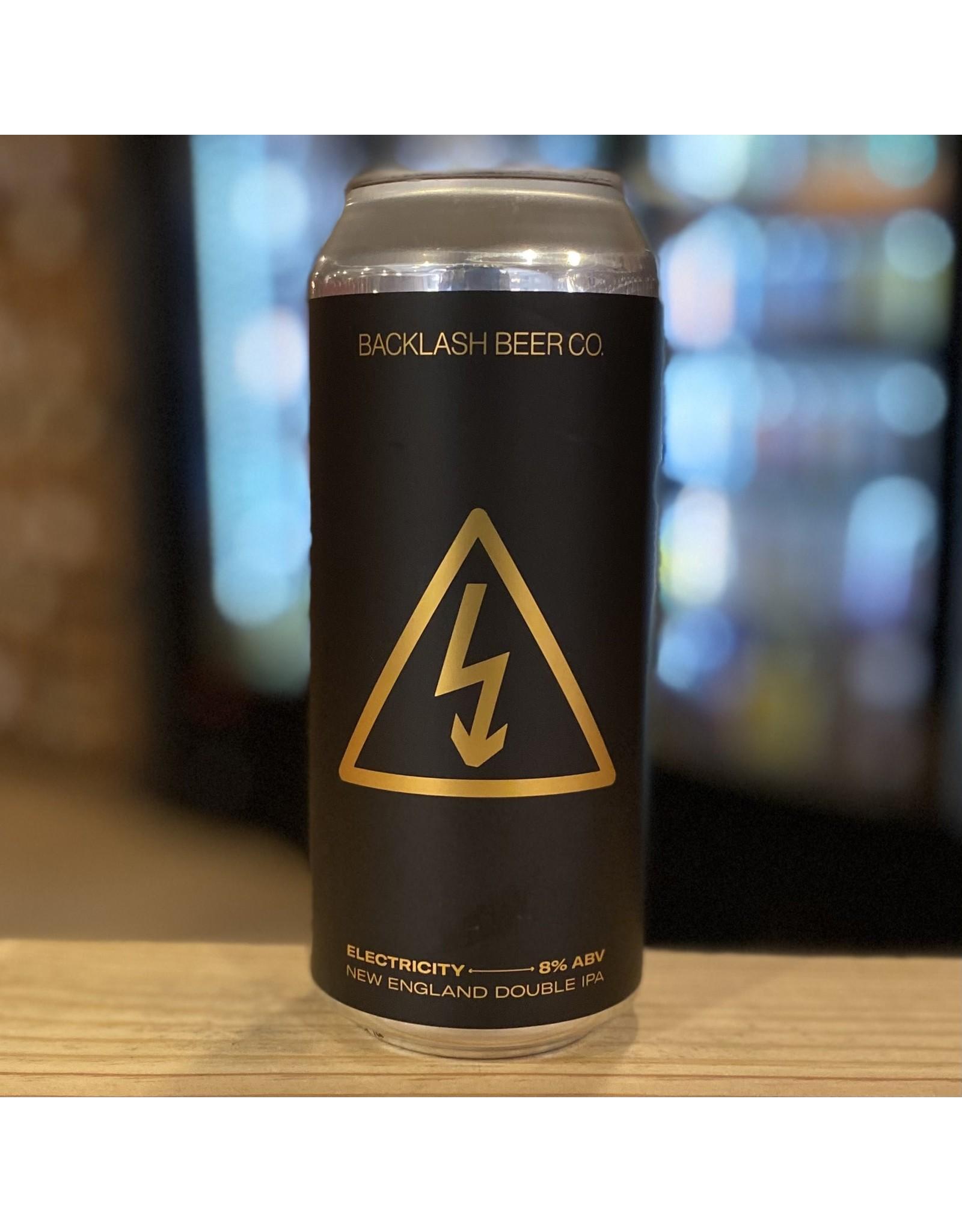 "NEIPA Backlash Beer Co ""Electricity"" NE DIPA - Boston, MA"