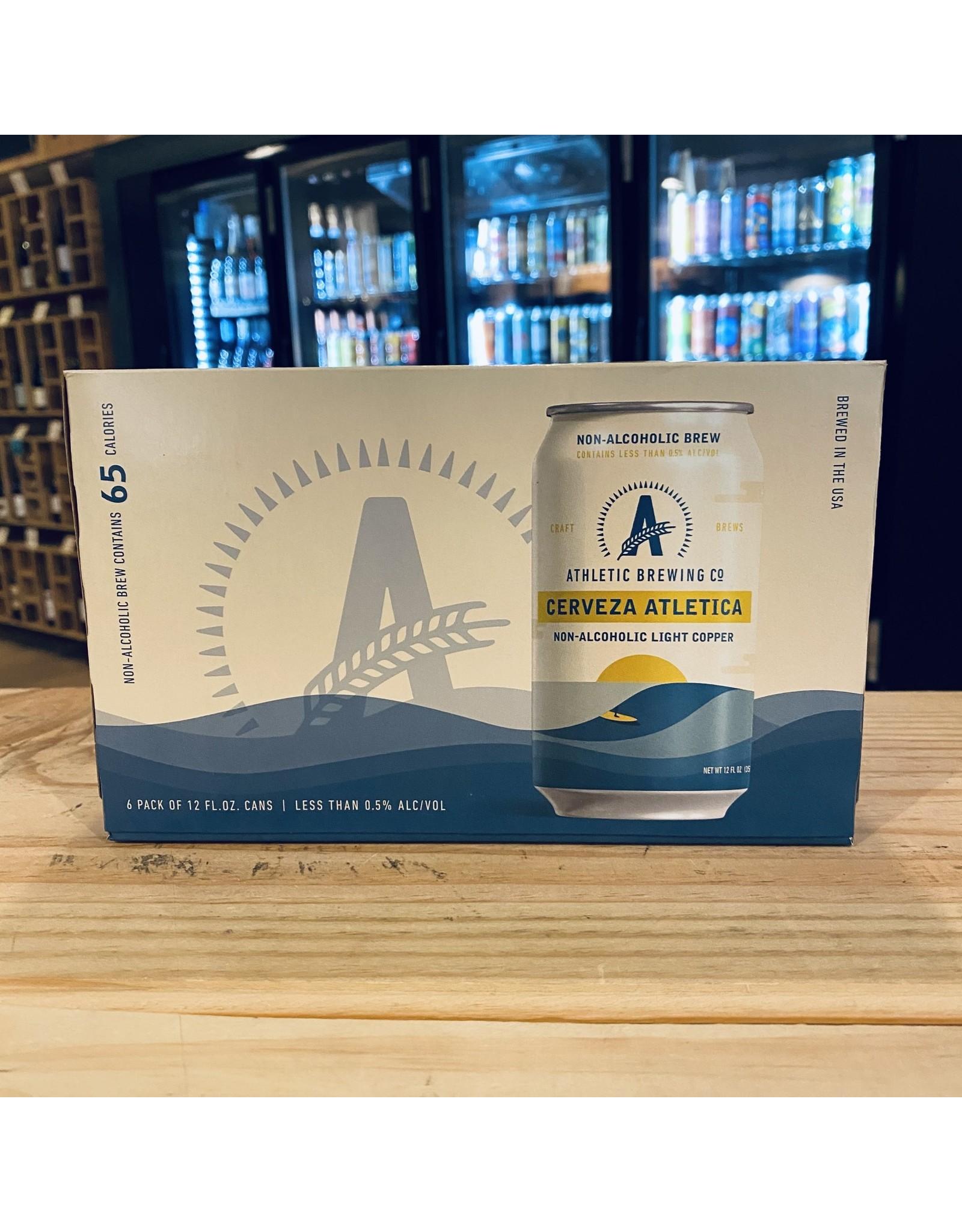 """Non-Alcoholic Athletic Brewing """"Cerveza Athletica"""" Non-Alchoholic Light Copper Ale 12oz 6-pack- Stratford, CT"""