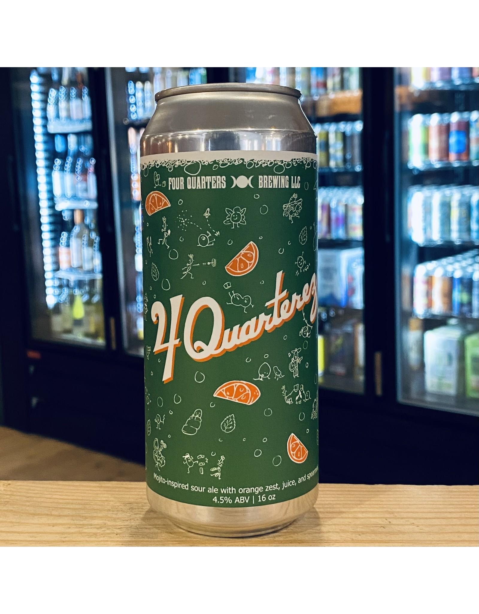 "Sour Four Quarters ""4 Quarterez"" Mojito Inspired Sour Ale w/Orange Zest, Juice and Spearmint - Winooski, Vermont"
