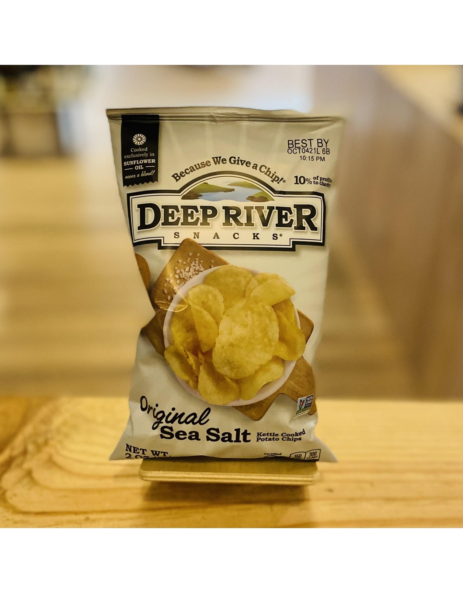 "Deep River ""Original Sea Salt"" Kettle Cooked Potato Chips  2oz - Deep River, CT"