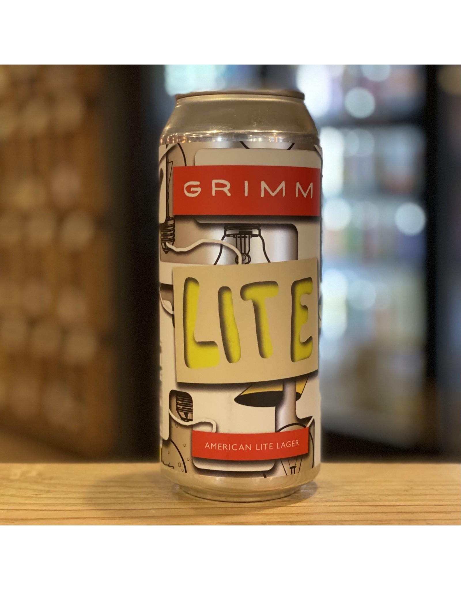 "Grimm ""Lite"" American Lite Lager - Brooklyn, NY"