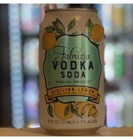 Fabrizia Spirits Sicilian Lemon Sparkling RTD Vodka Soda 12oz Can - New Hampshire