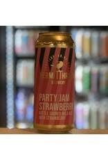 "Sour Hermit Thrush Brewery ""Party Jam Strawberry"" Kettle Soured Wild Ale w/Strawberries - Brattleboro, VT"