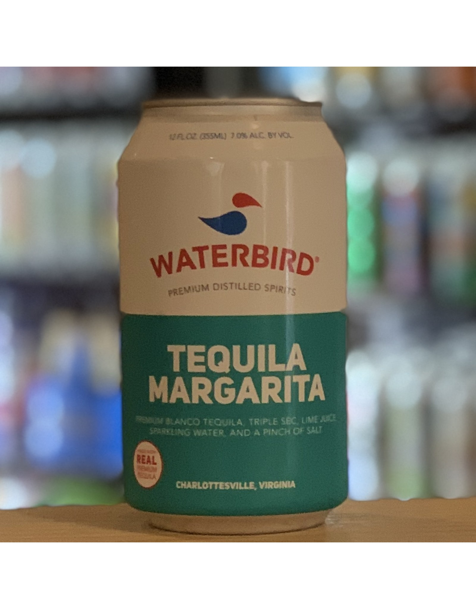 """Waterbird """"Margarita"""" RTD Blanco Tequila Cocktail w/Lime, Triple Sec and Sparkling Water 12oz Can - Charlottesville, Virginia"""