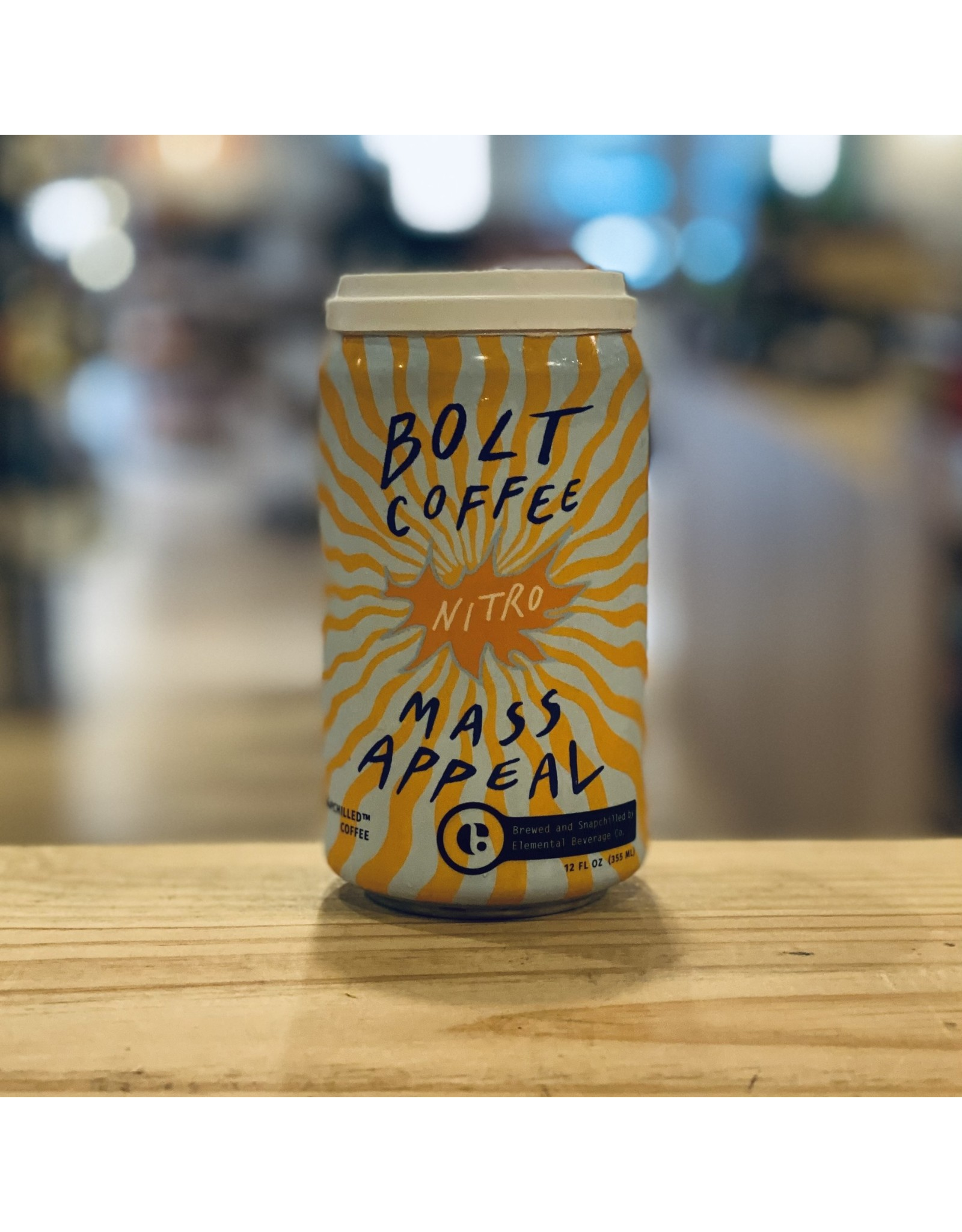"""Coffee Elemental Beverage and Bolt Coffee Co """"Mass Appeal"""" Nitro Snapchilled Coffee 12oz Can - Watertown, MA"""