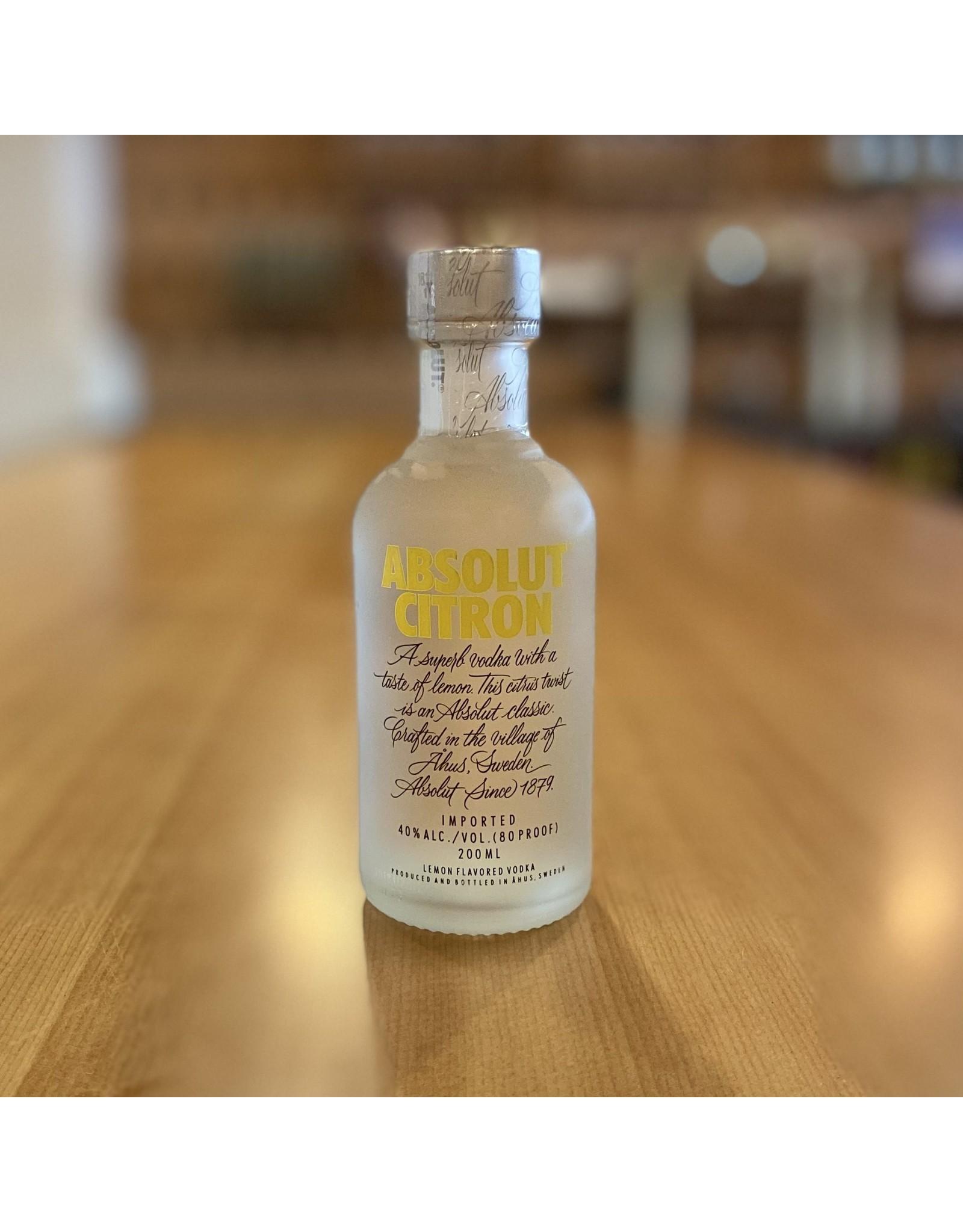 Absolut Citron Vodka 200ml - Sweden