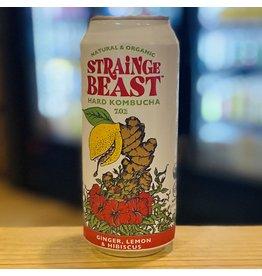 "Hard Kombucha Chico Fermentation Project ""Strainge Beast"" Organic Hard Kombucha w/Ginger, Lemon and Hibiscus - Chico, CA"