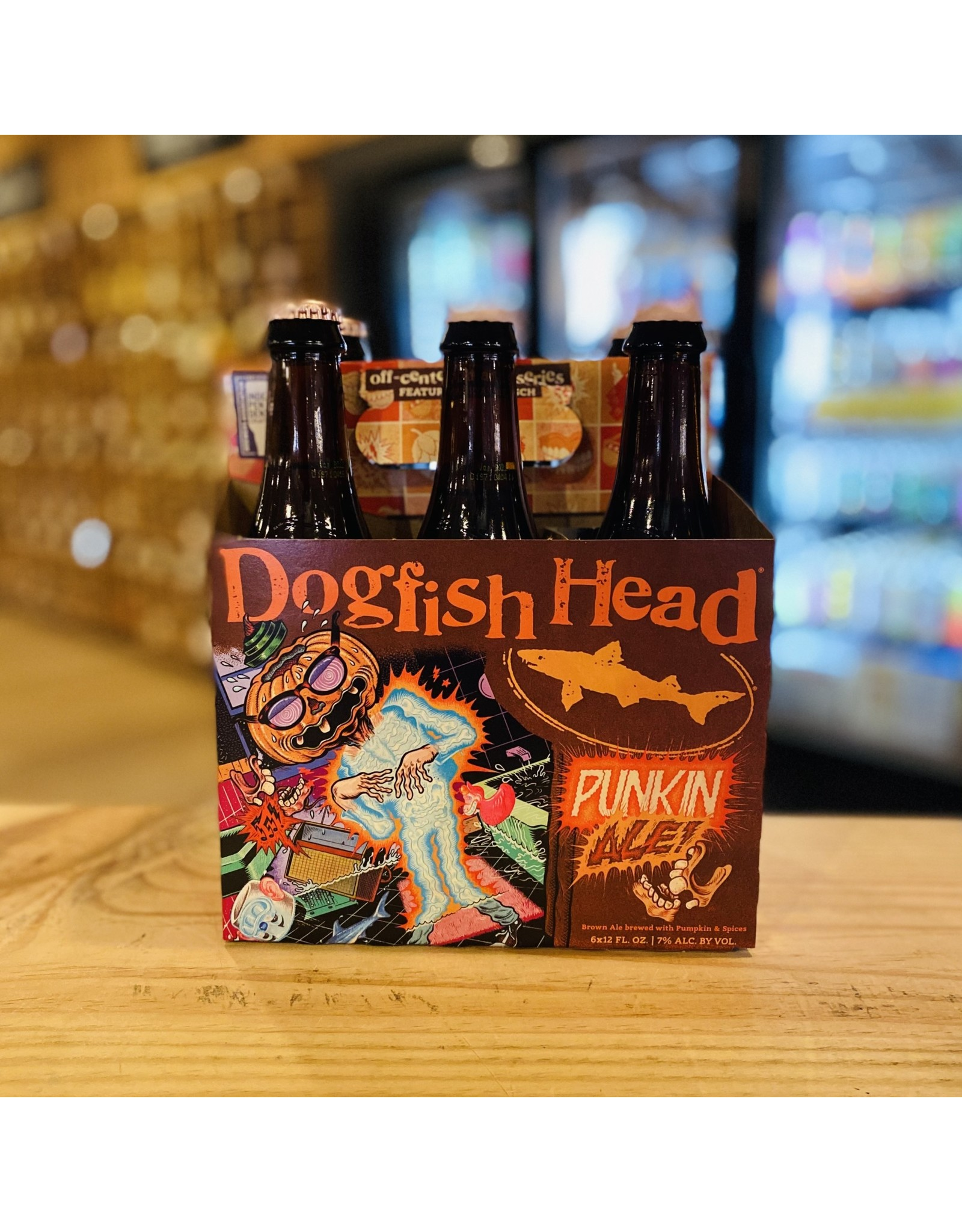 "Seasonal Dogfish Head ""Punkin Ale"" Brown Ale w/Pumpkin & Spices 6-Pack - Milton, DE"