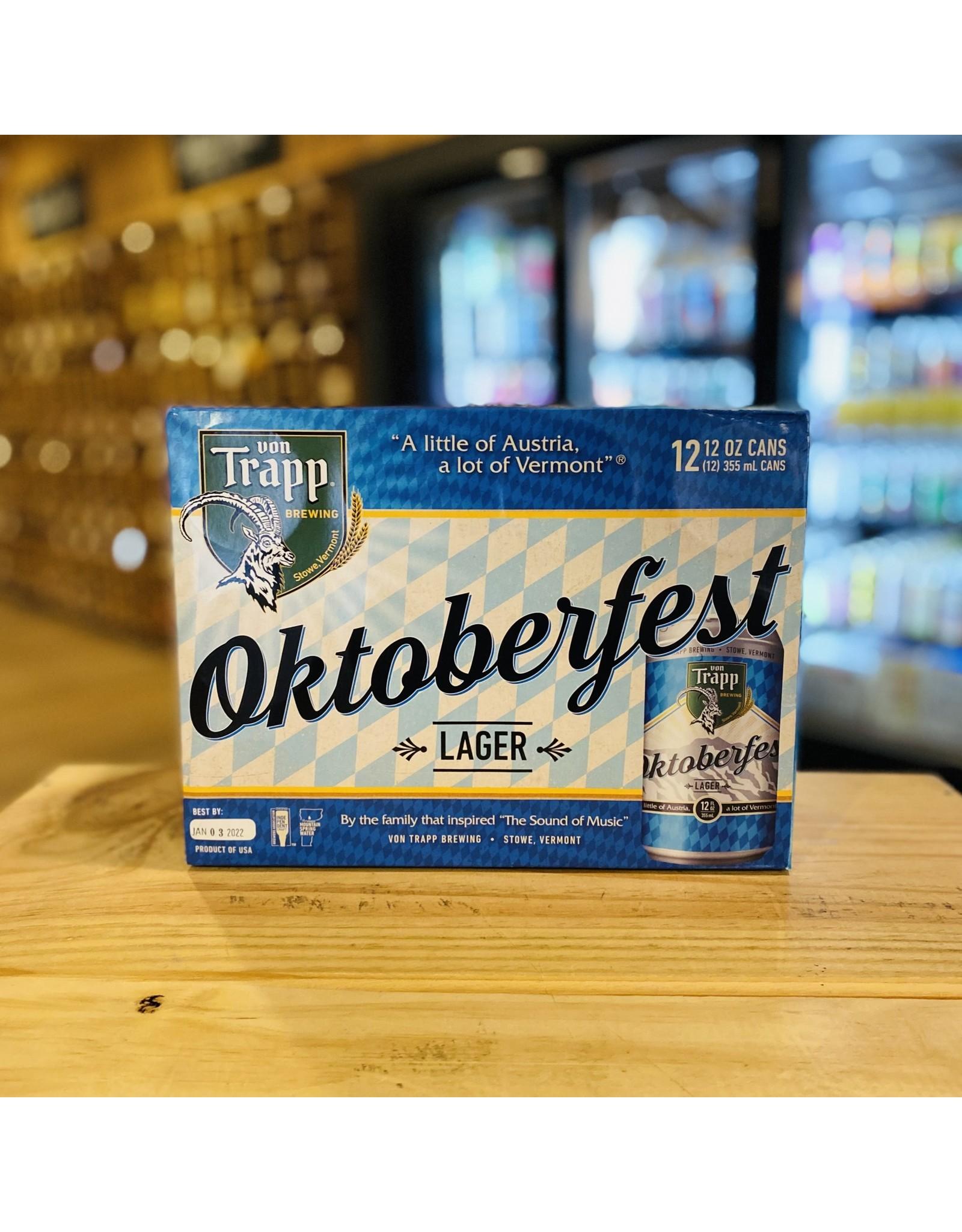 """Seasonal Von Trapp Brewing """"Oktoberfest"""" Lager 12-Pack - Stow, Vermont"""