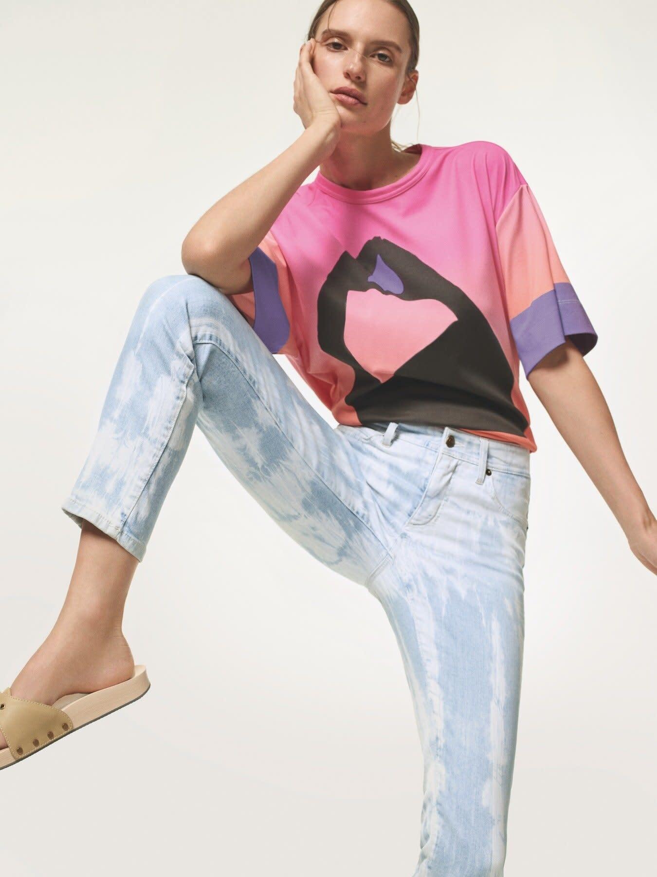 Cambio Parla Tie Dye Jean - Size 36