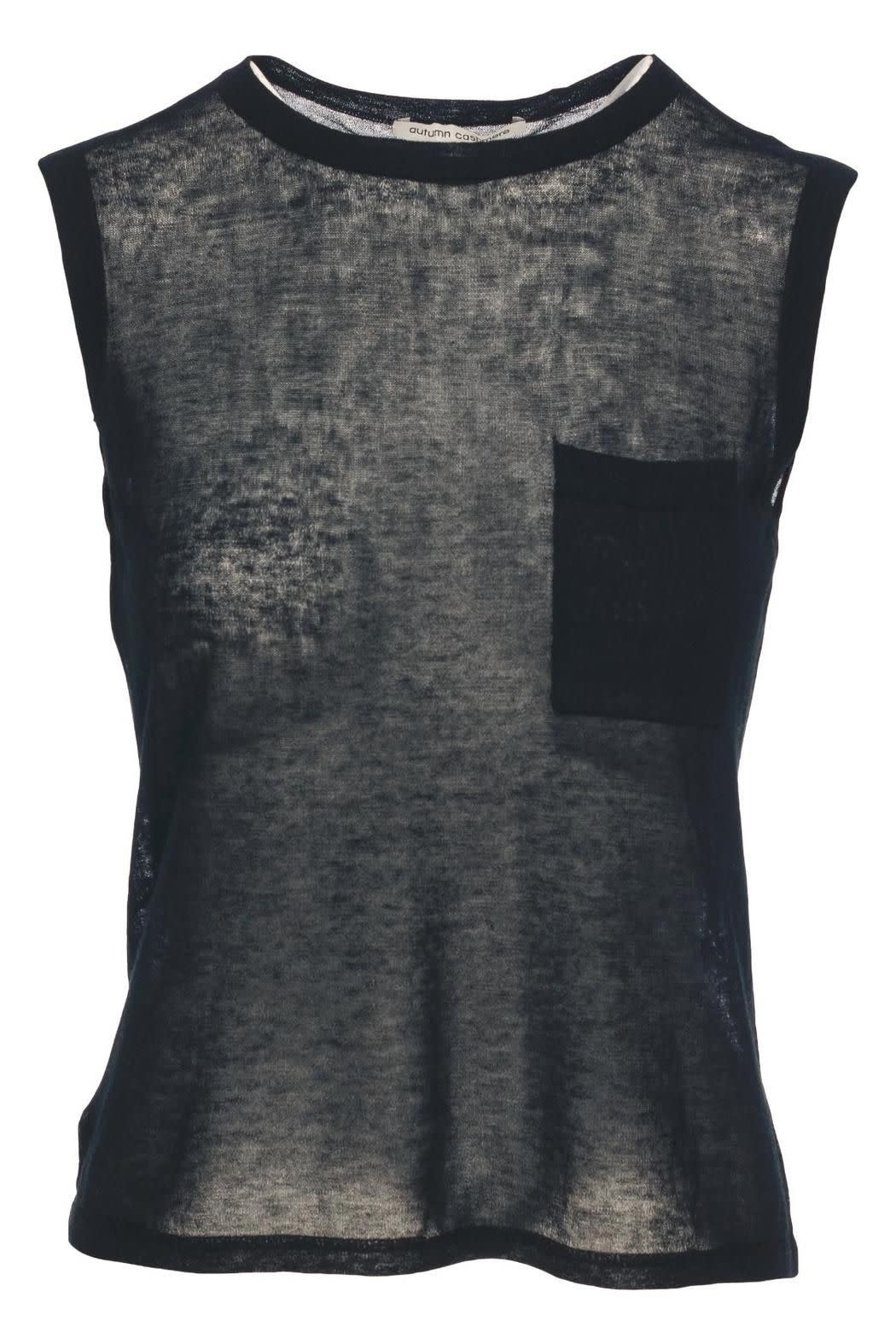 Autumn Cashmere Muscle Tee W/ Pocket
