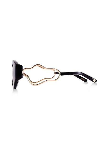 Pared Eyewear Serra Squiggle Black/Gold