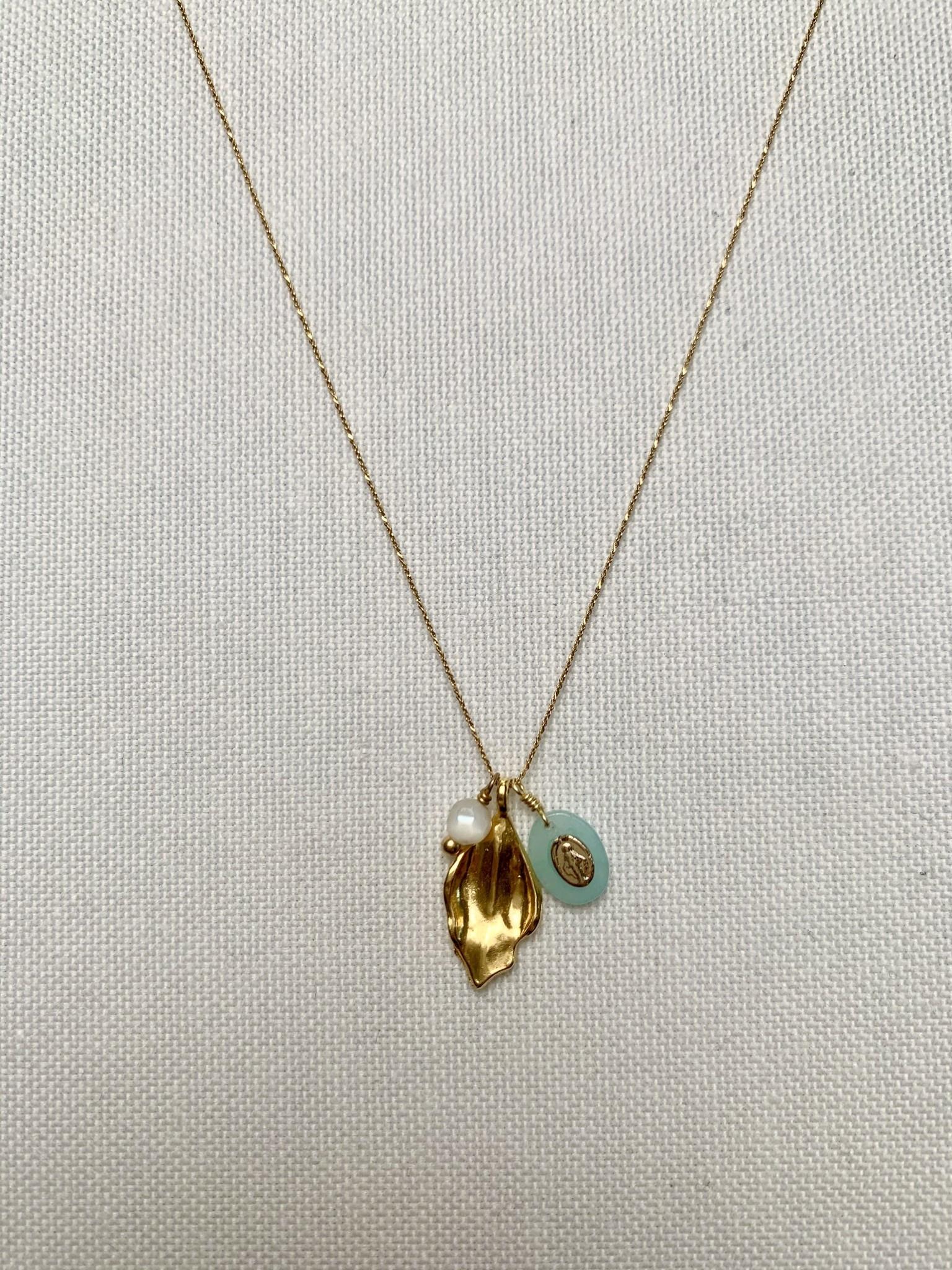 Chan Luu Amazonite Charm Necklace