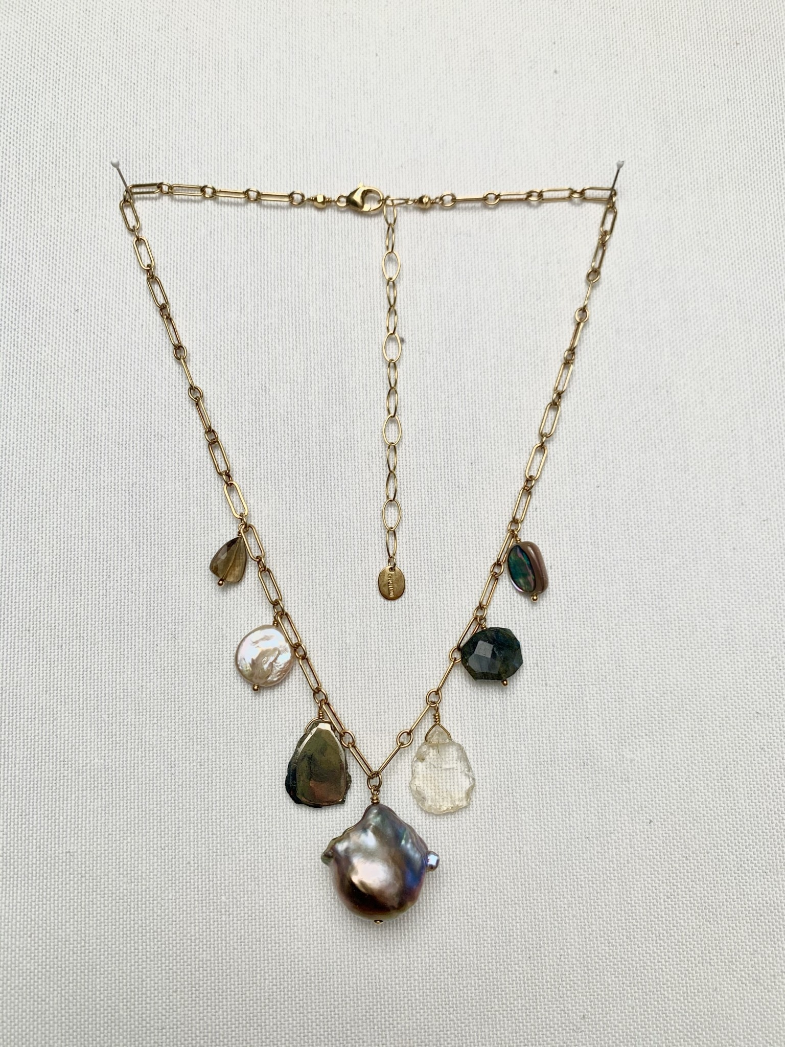 Chan Luu Charm Necklace Gold Mix