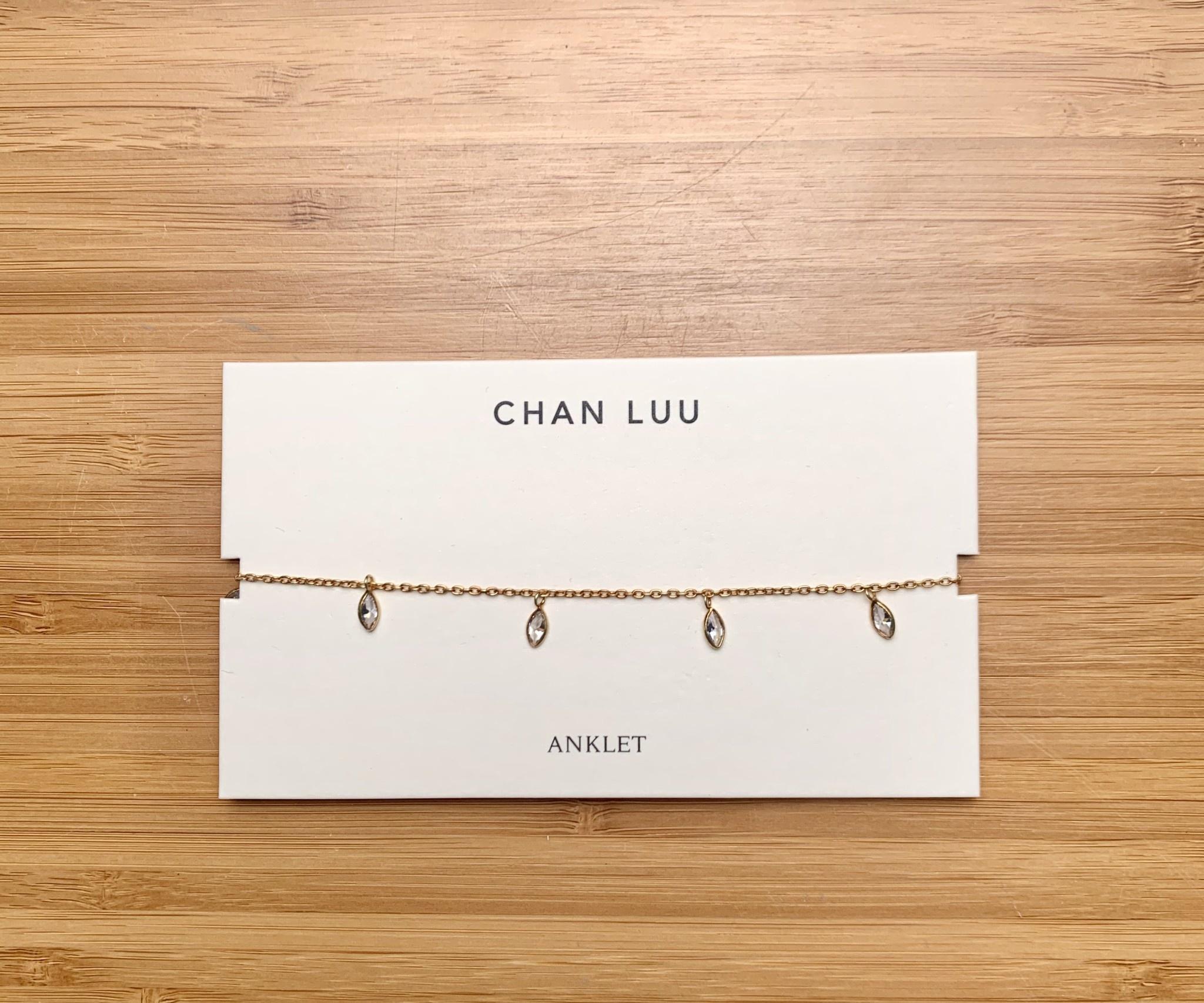 Chan Luu Gold Crystal Anklet
