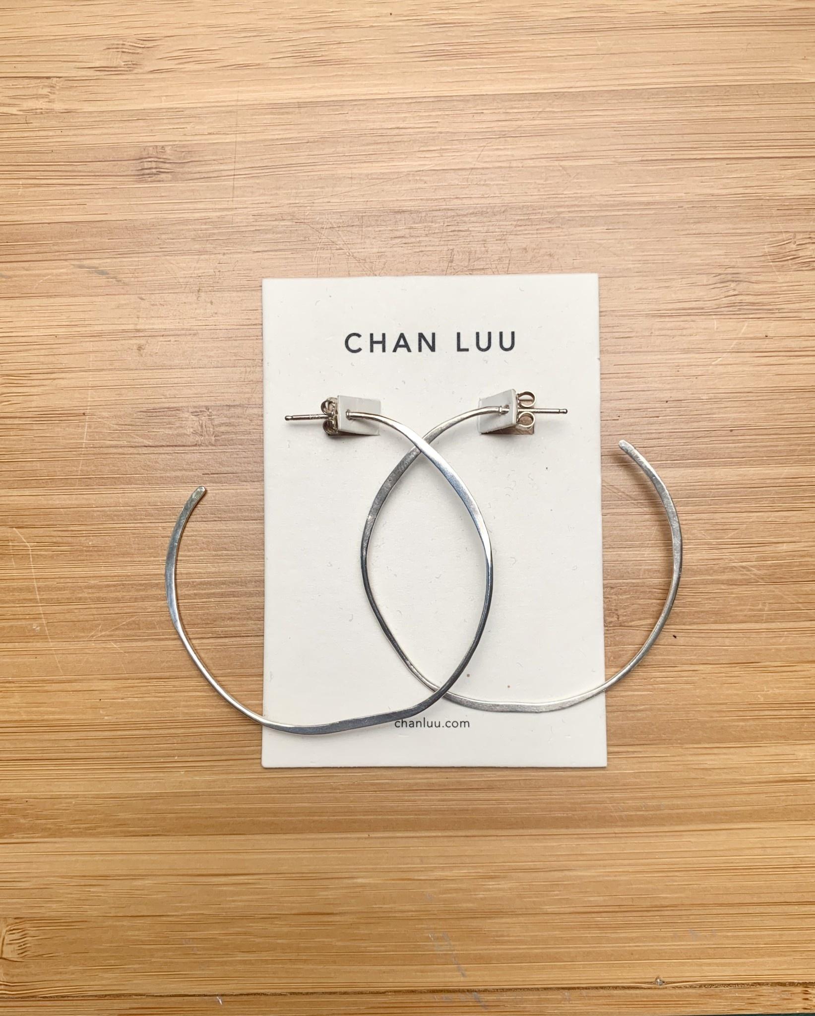 Chan Luu Big Hoops Silver