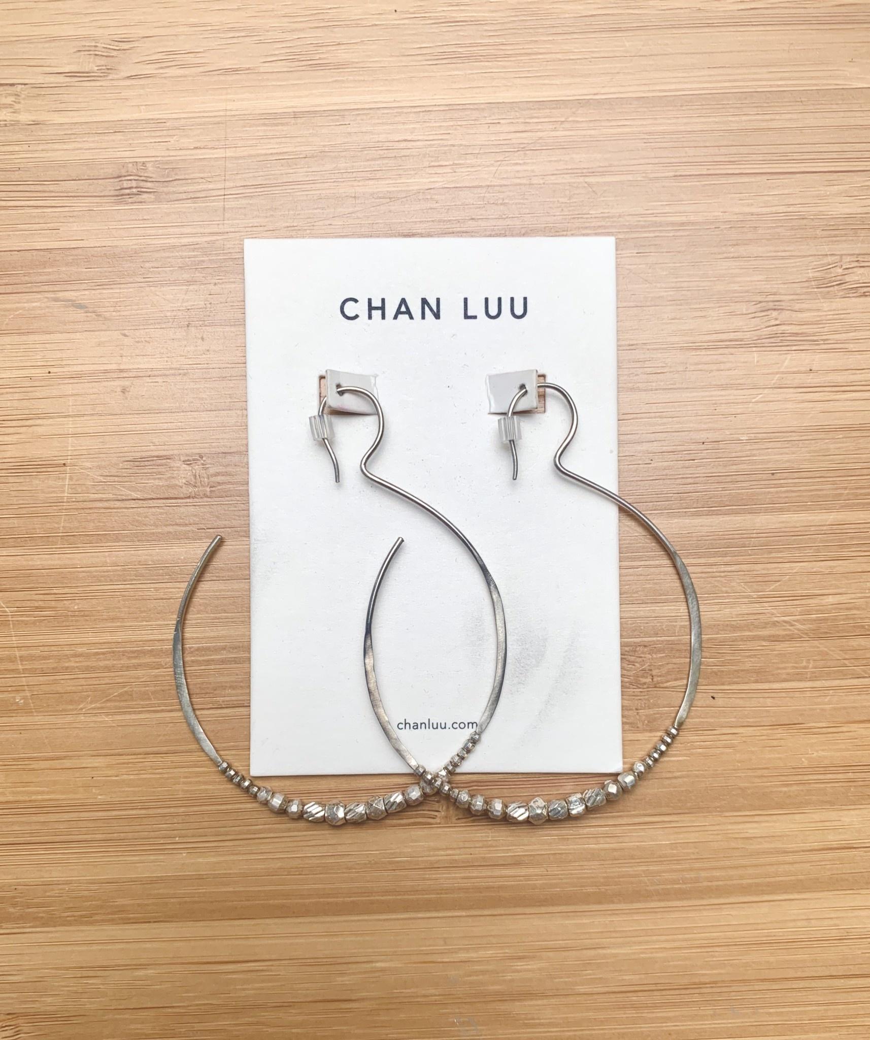 Chan Luu Big Eclipse Hoops Silver