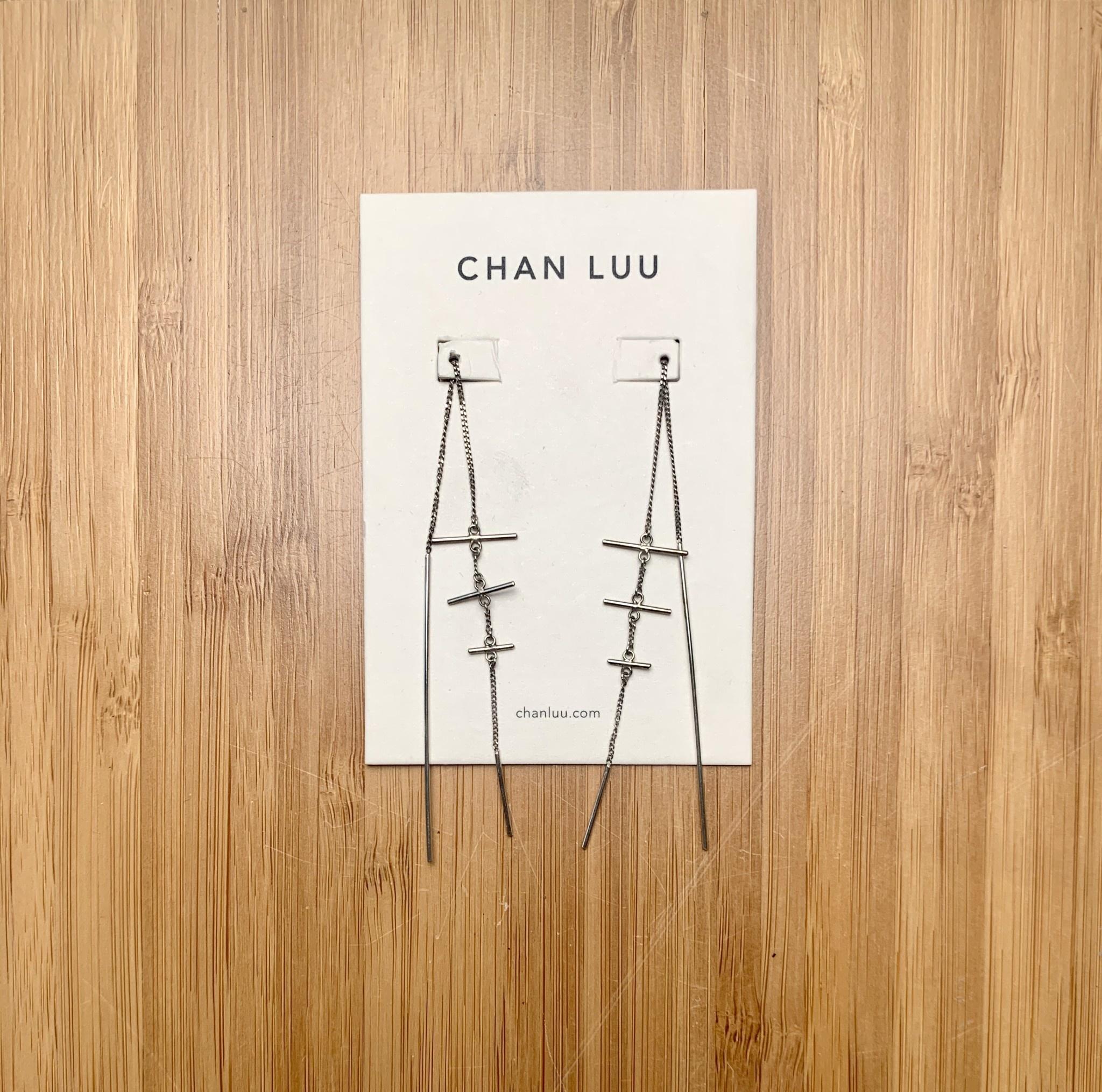 Chan Luu Cross Thread Thru Earrings Silver
