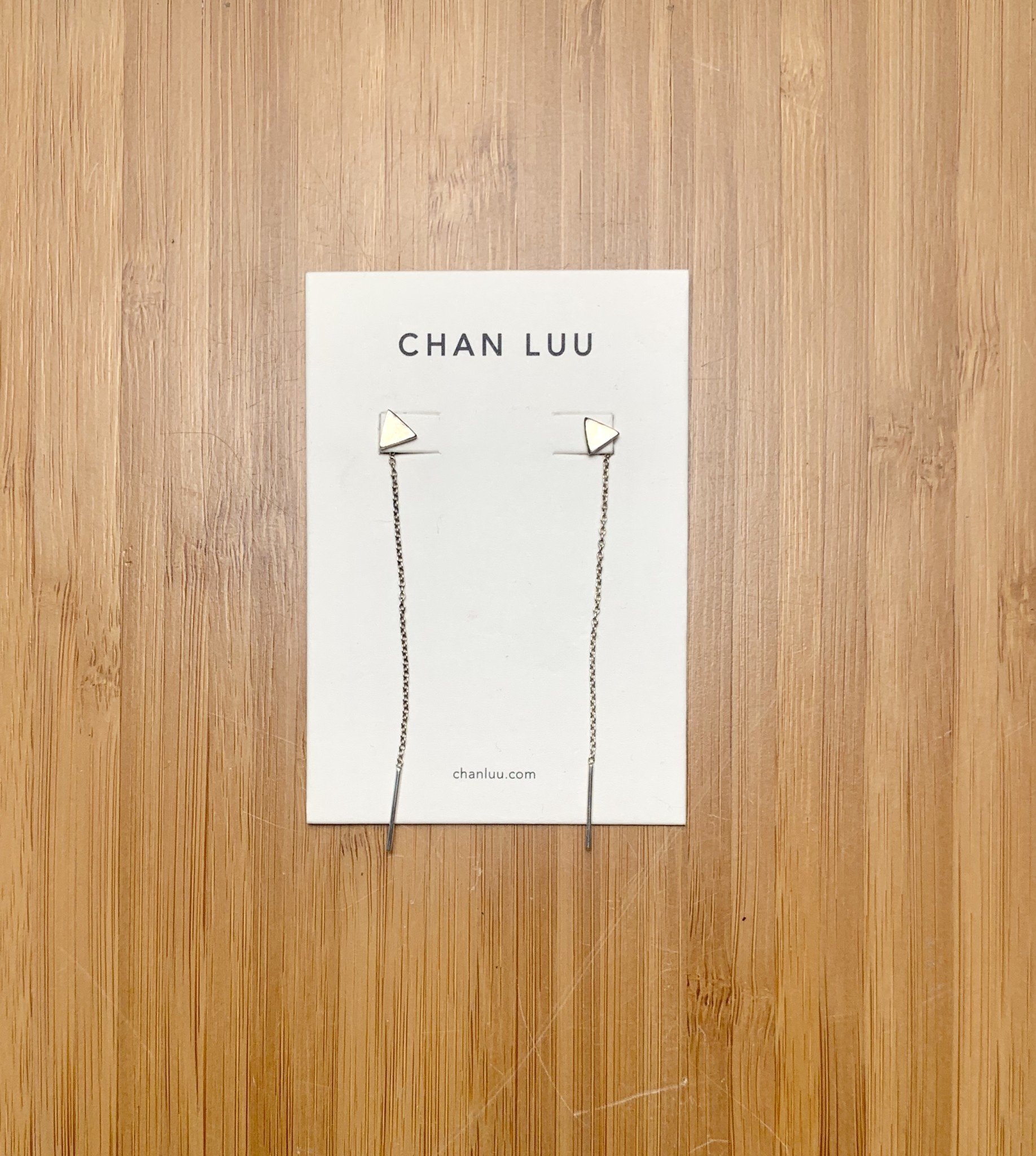 Chan Luu Triangle Thread Thru Silver