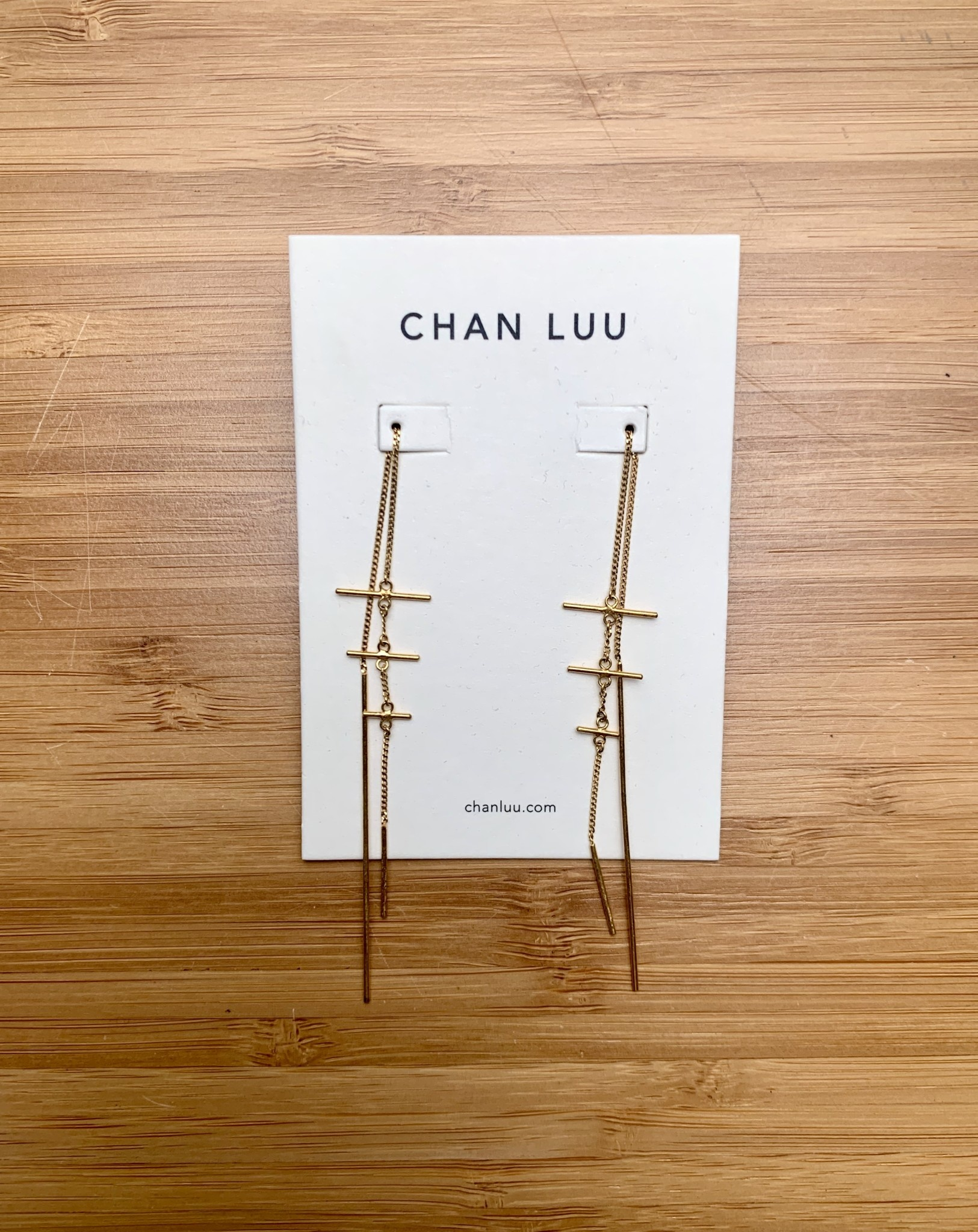 Chan Luu Cross Thread Thru Earrings Gold