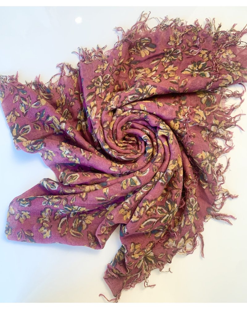 Chan Luu Painterly Floral Scarf (2 Colours)