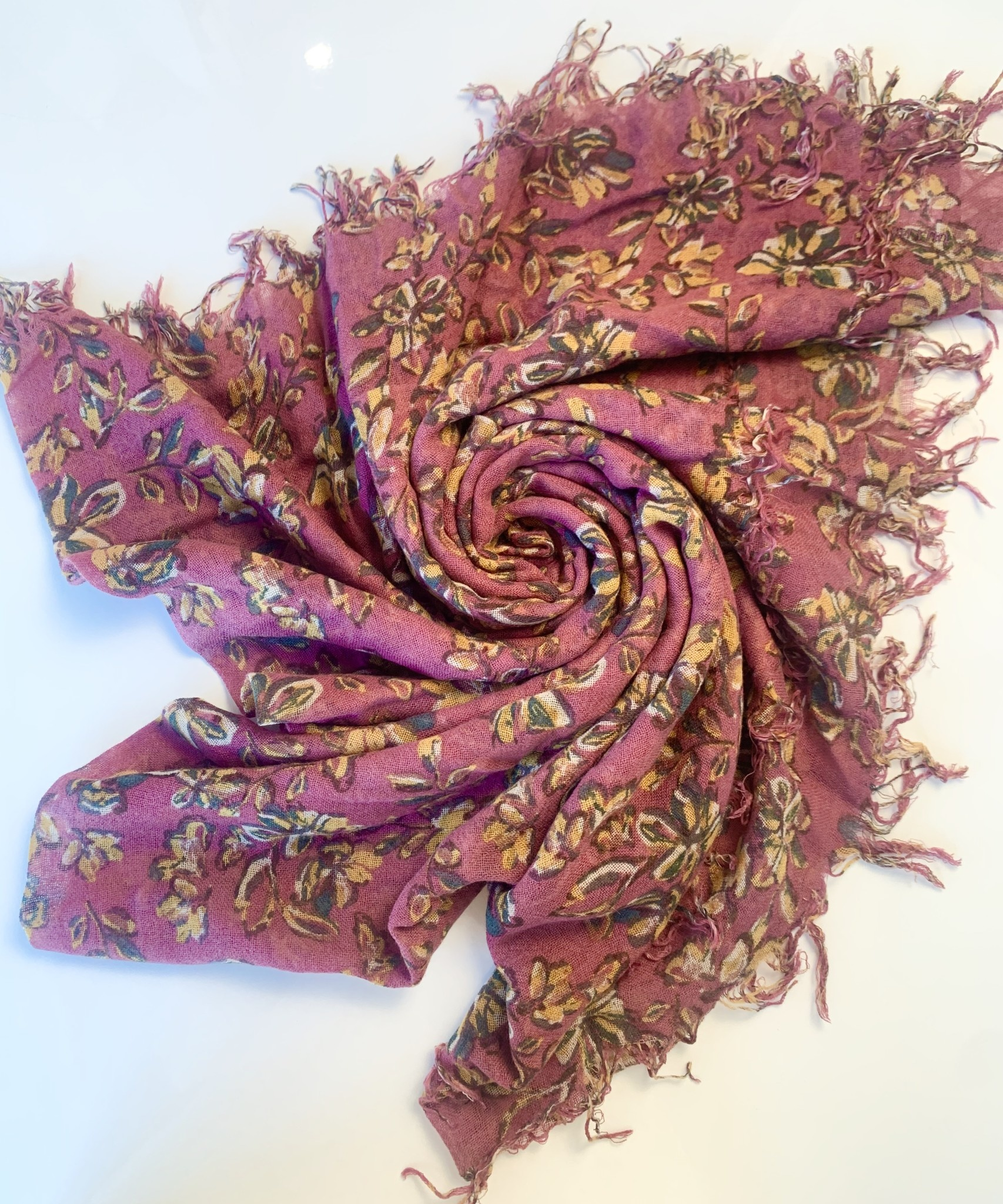 Chan Luu Painterly Floral Scarf