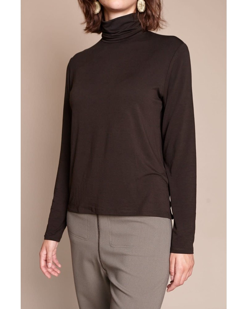 Majestic Long Sleeve Boxy Turtleneck