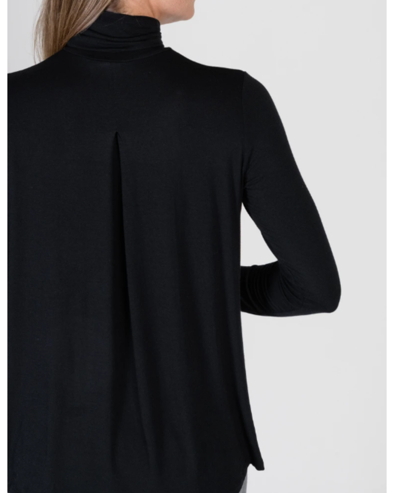 Majestic *Pleat Back Turtleneck