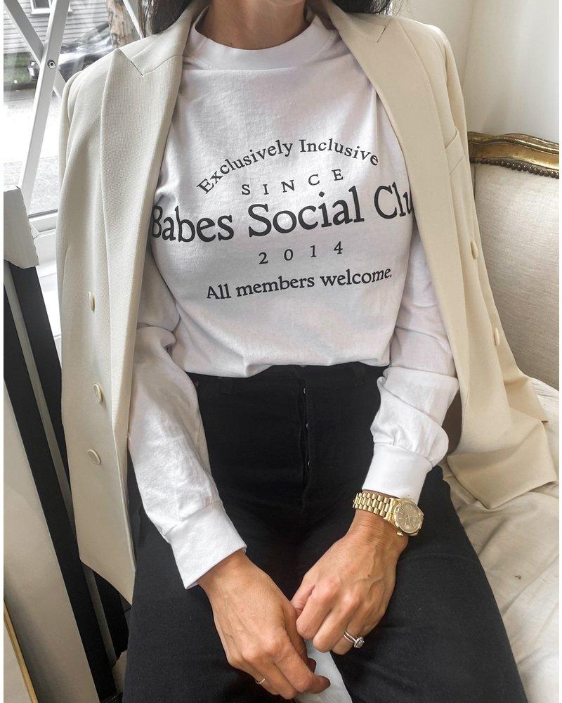 Brunette The Label Social Club Long Sleeve Tee