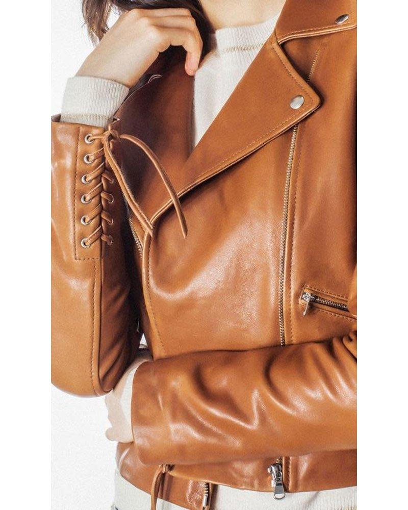 Generation Love Harvey Moto Jacket - Cognac/L