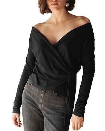 Velvet Janessa Wrap Top - Black/XS