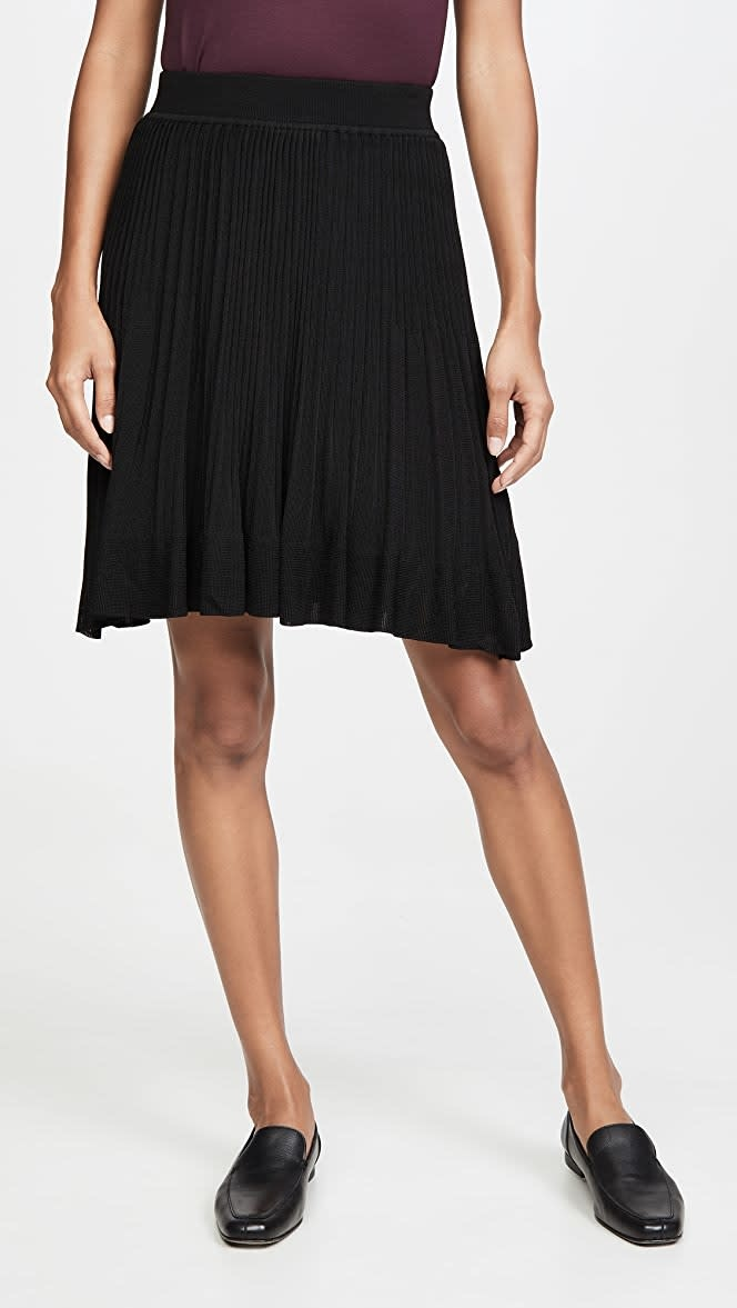 Theory *Knit Pleated Skirt
