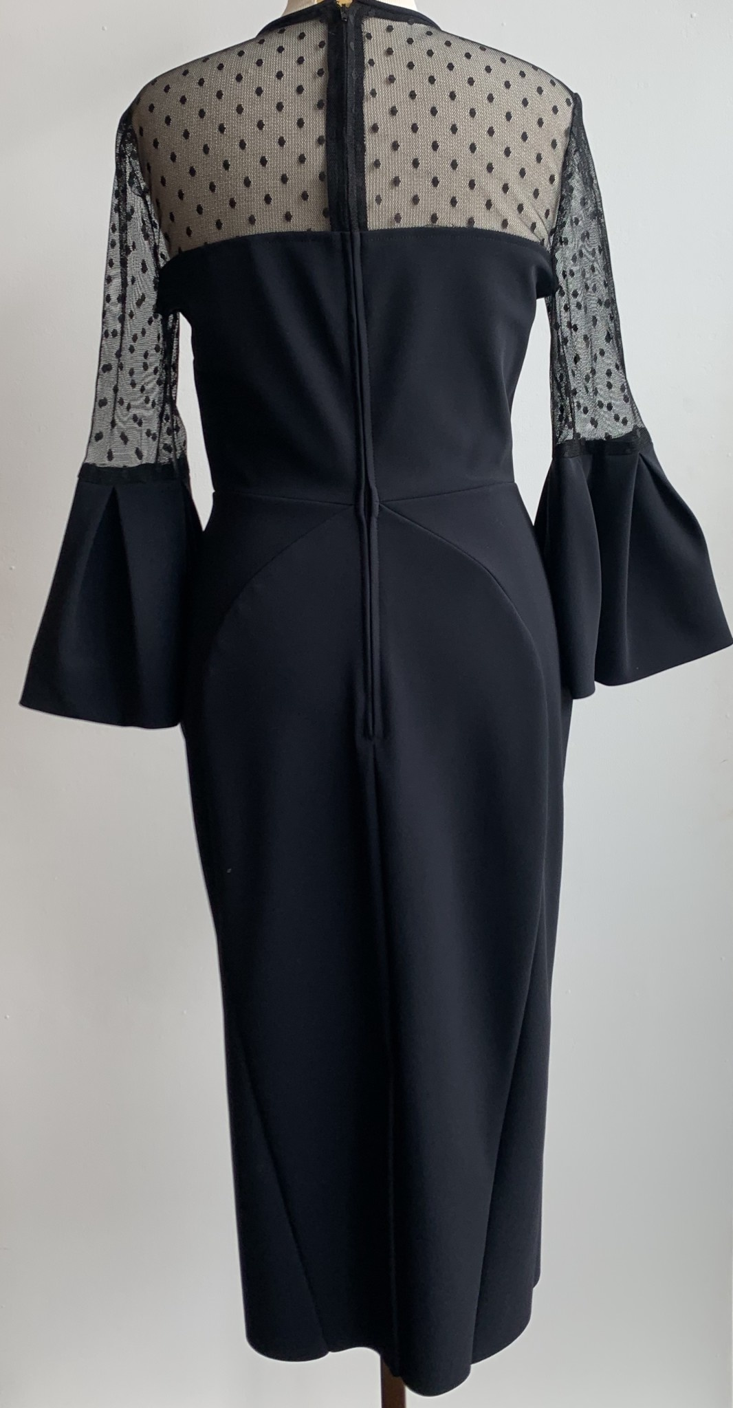 Greta Constantine Peek-A-Boo Fitted W/ Bell Sleeves