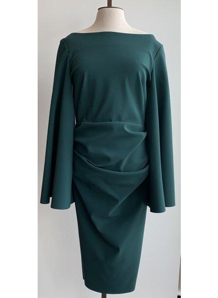 Greta Constantine Angel Sleeve Ruched Dress