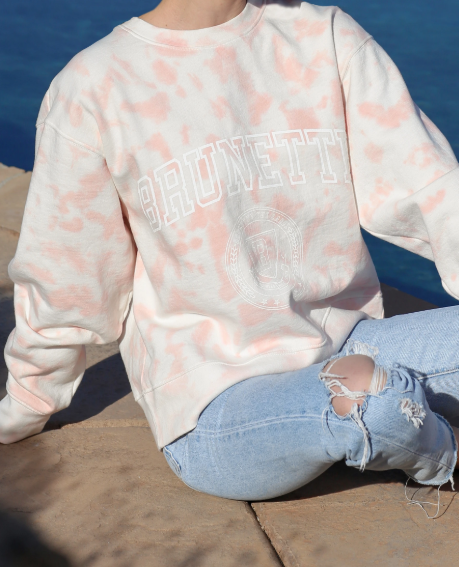 Brunette The Label Marble Tie-Dye Step Sister Crew