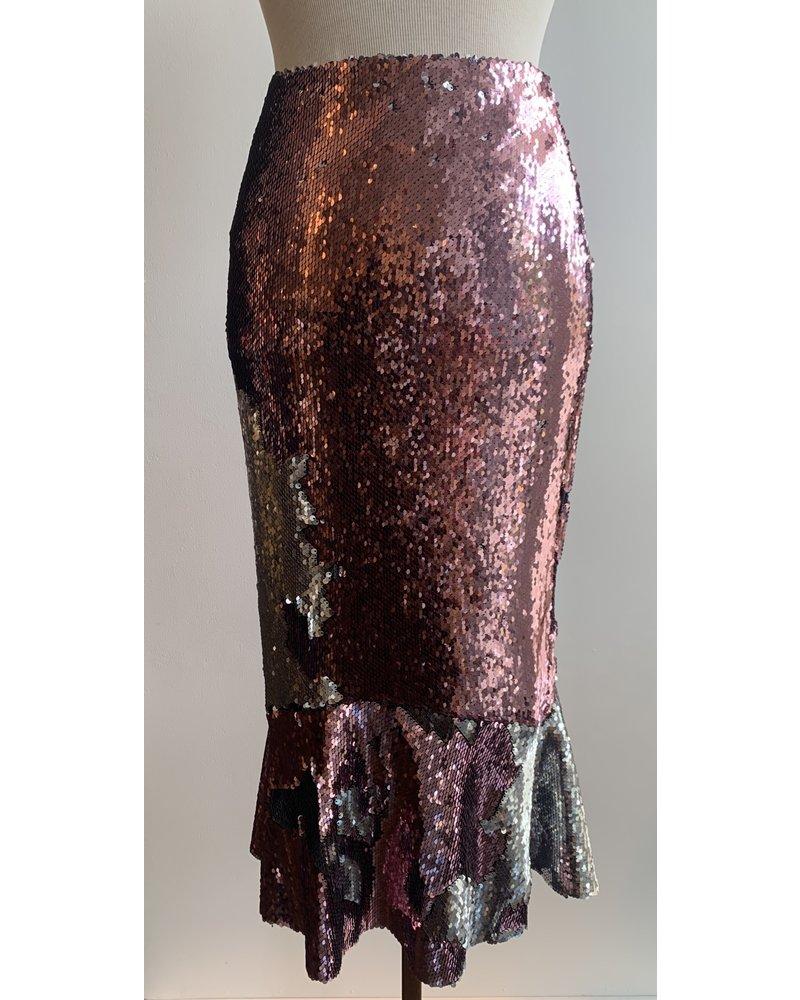 Greta Constantine Sequin Kace Skirt