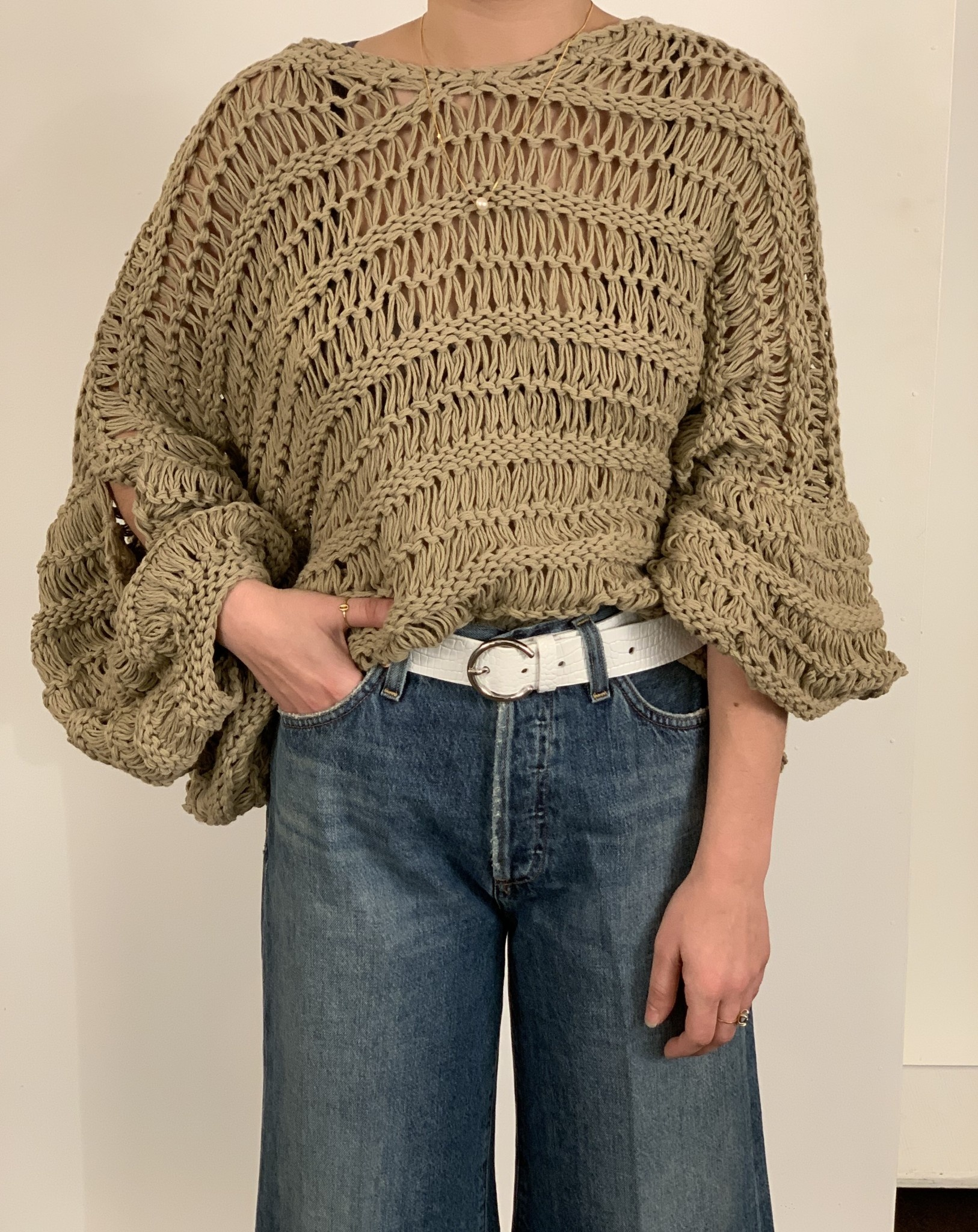 First Born Knitwear Vanilla Sweater