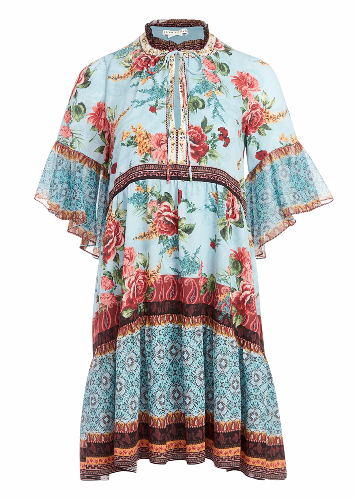 Alice + Olivia Glory Tiered Tunic Dress
