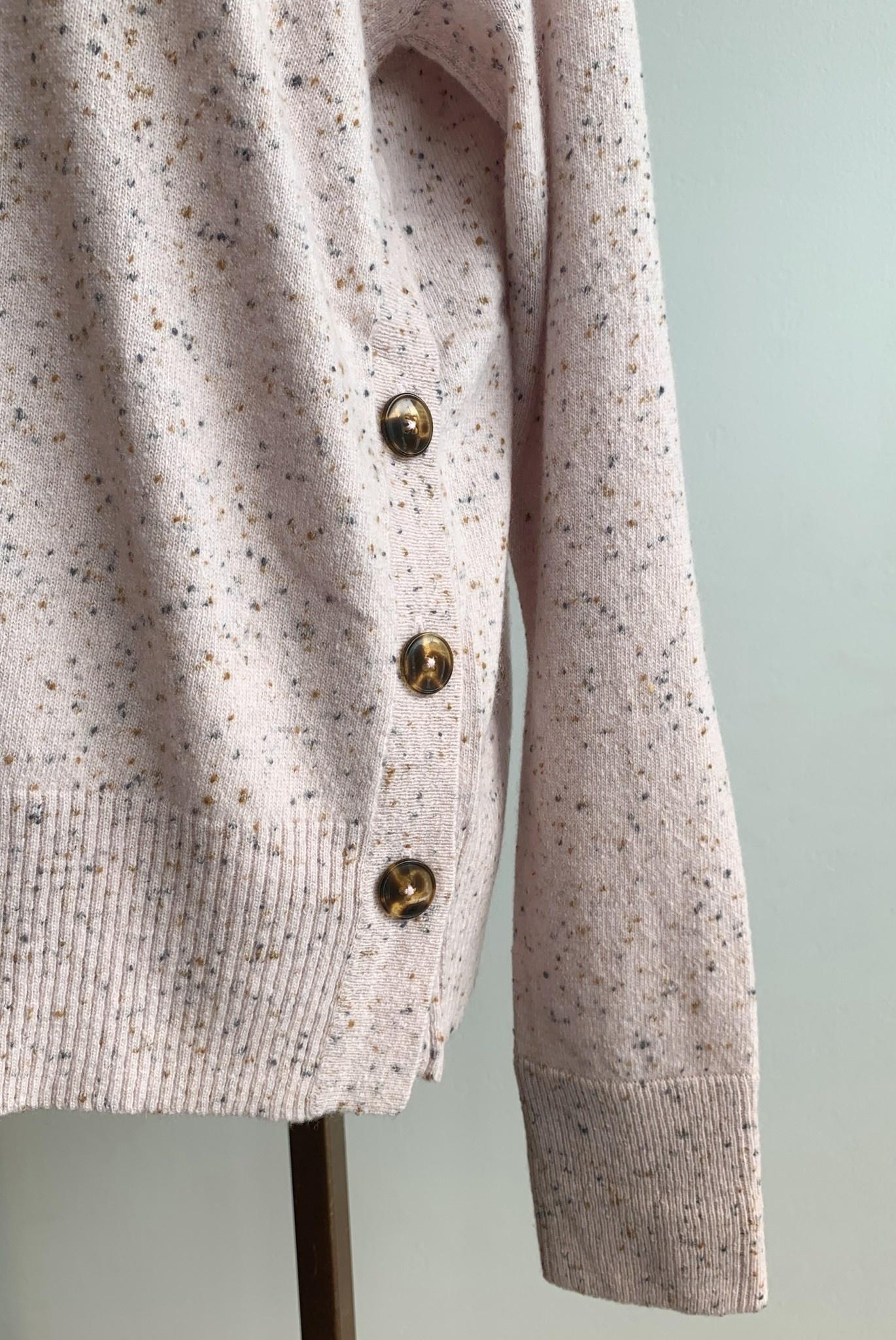 Autumn Cashmere Side Button Mock