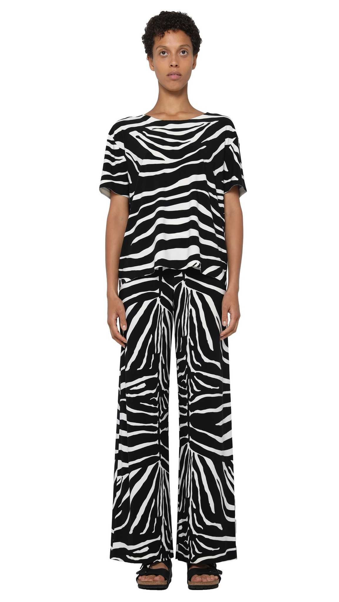 Norma Kamali Boxy Zebra Tee