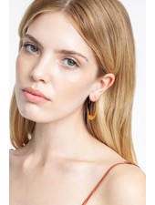 Chan Luu Crescent Moon Hoops