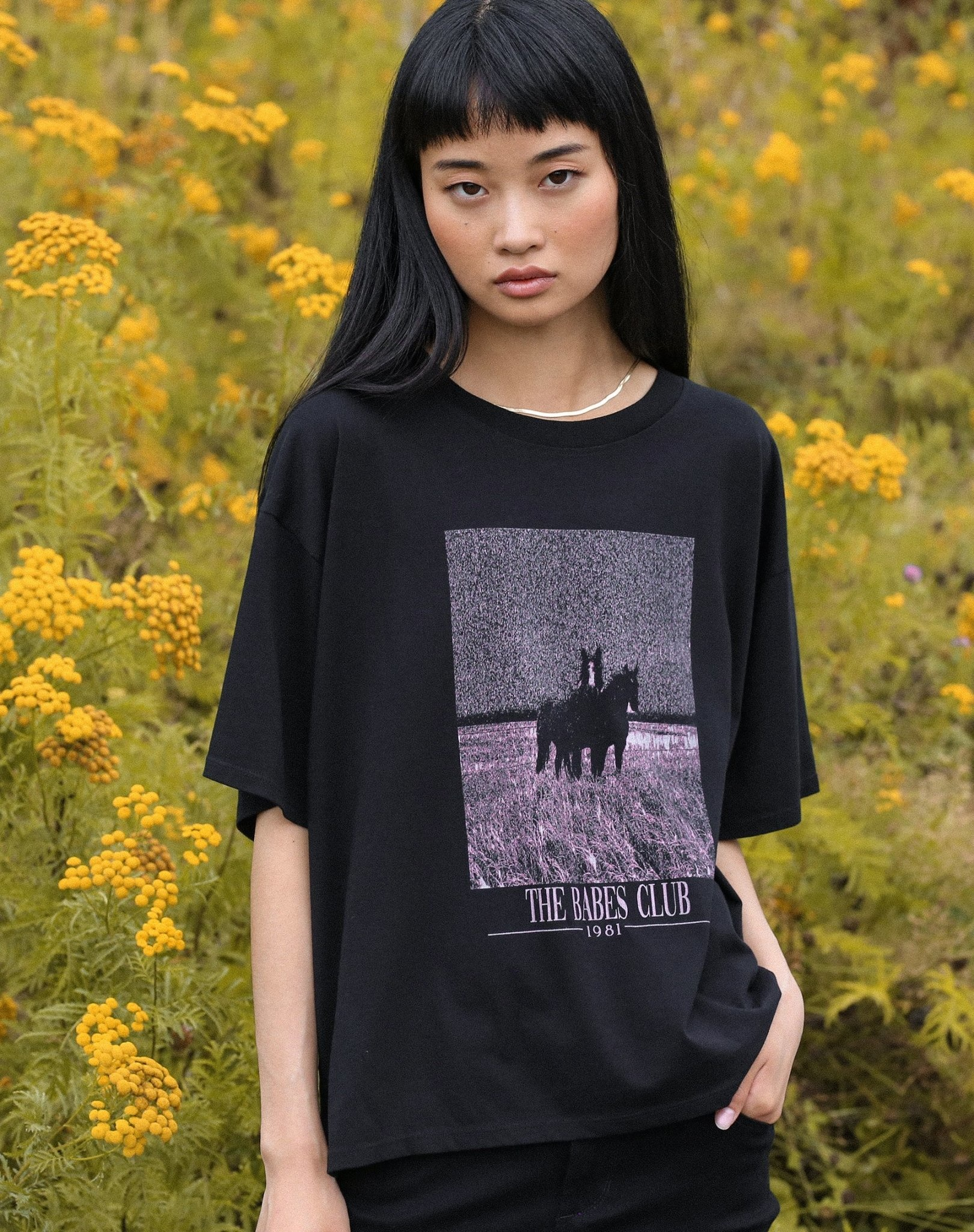 Brunette The Label Equestrian Boxy Tee