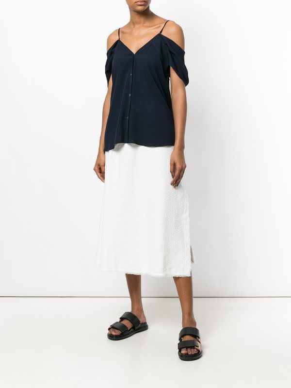 Theory Button Top/ Black/ M