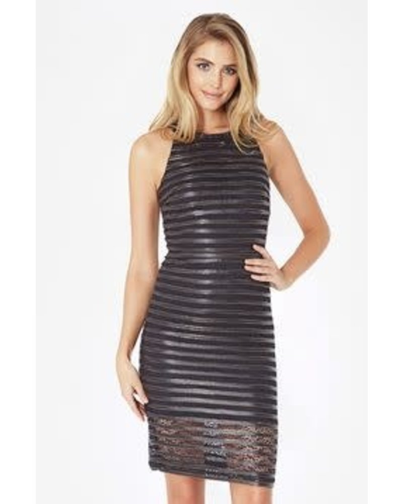 Parker NY Braelyn Dress/ Black Gold/ L