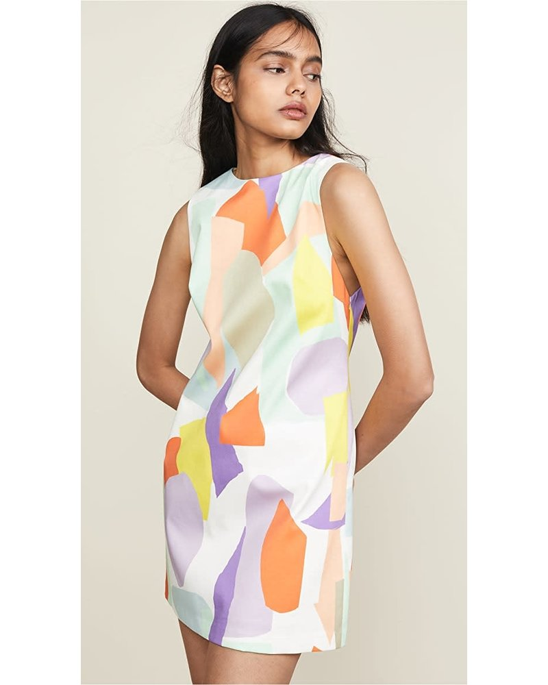 Alice + Olivia Clyde Dress/ Geo Collage/ 12