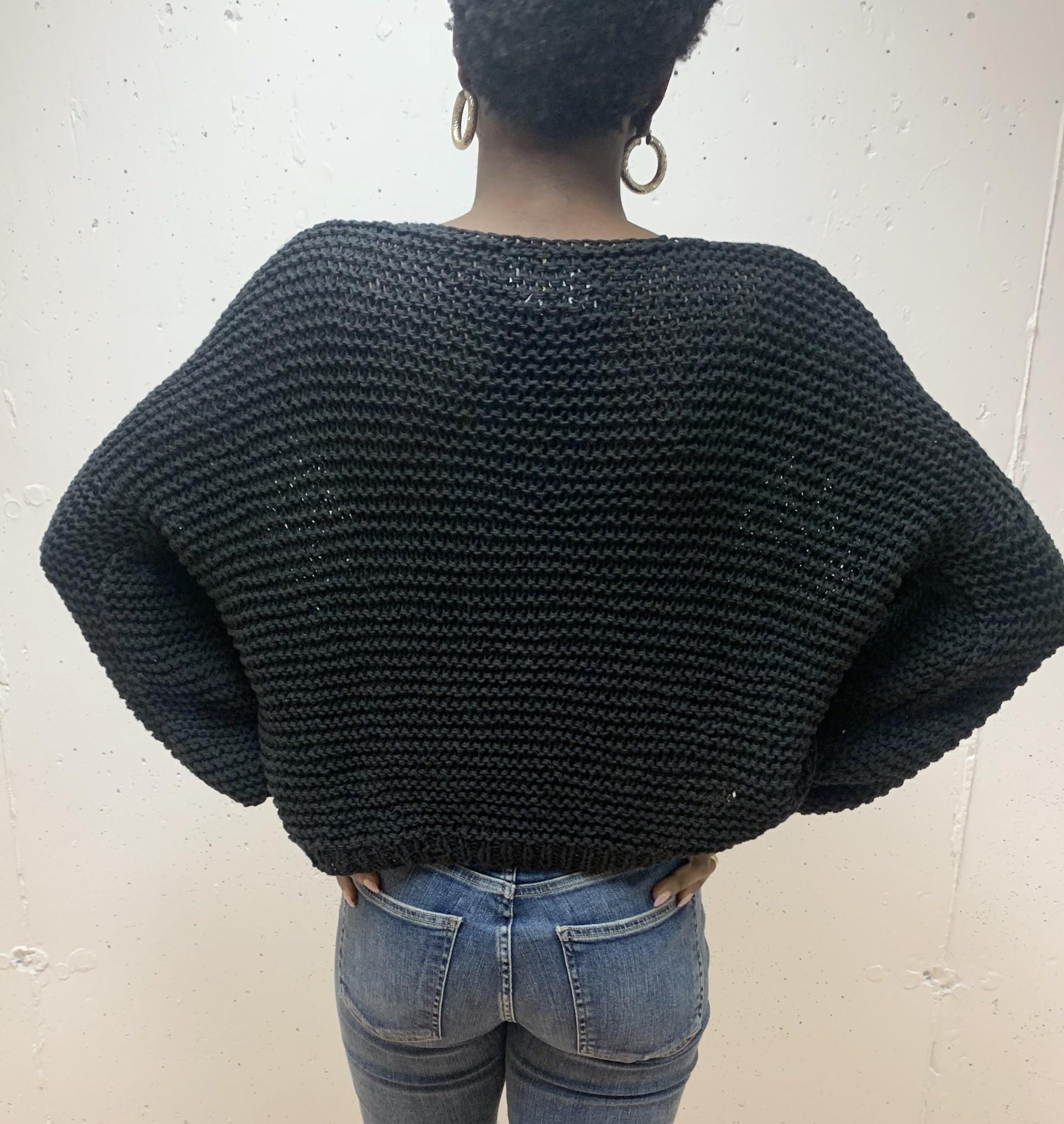 First Born Knitwear Garter V Neck