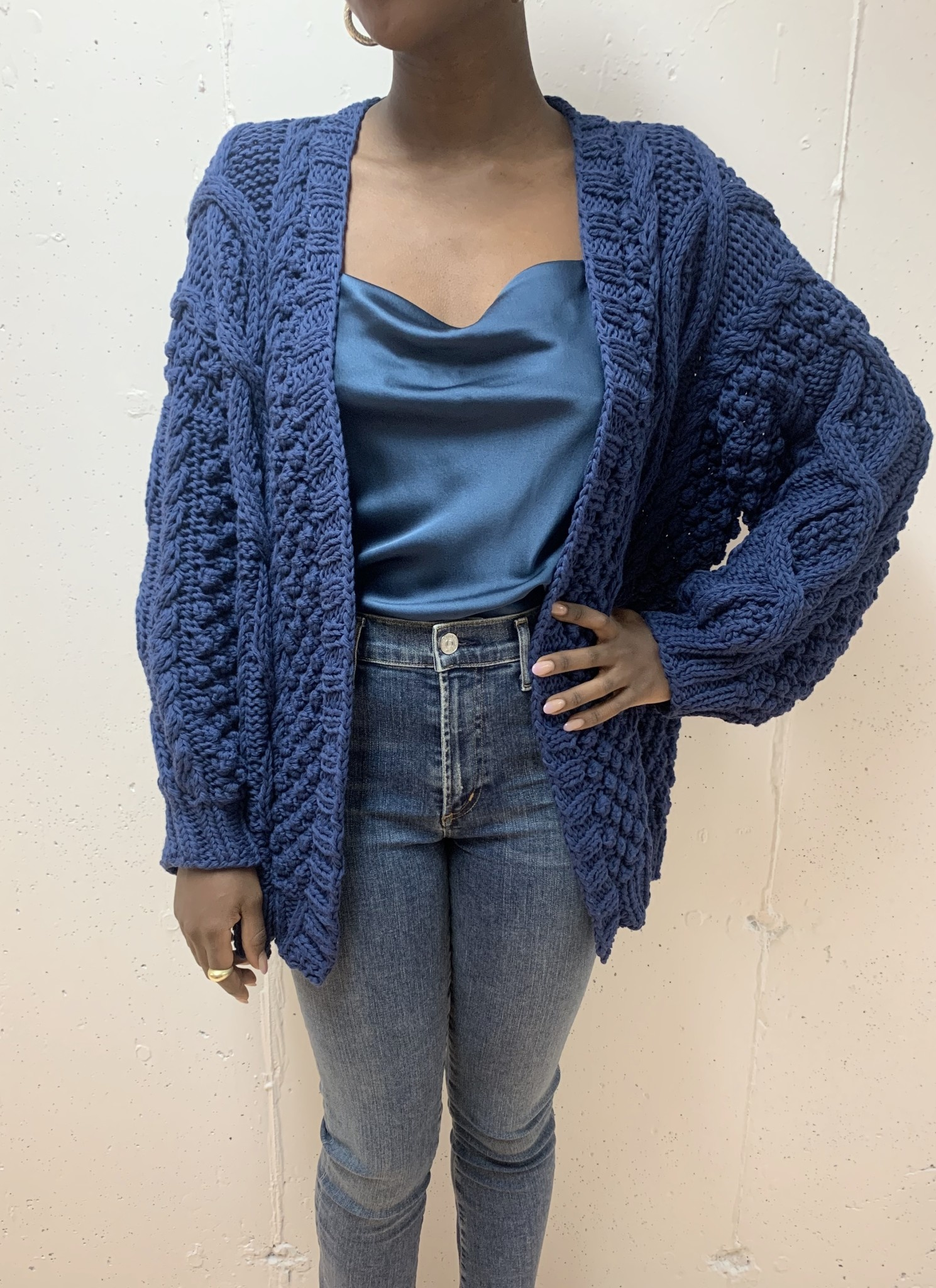 First Born Knitwear Cable Cardi
