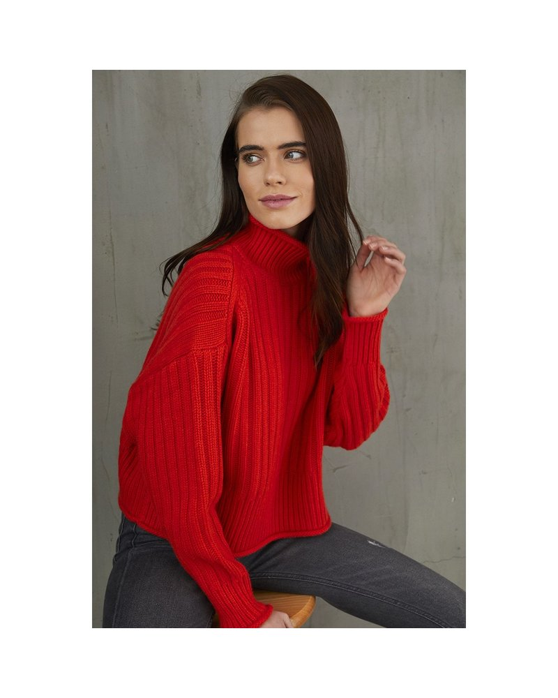 Autumn Cashmere Ribbed Mock Neck