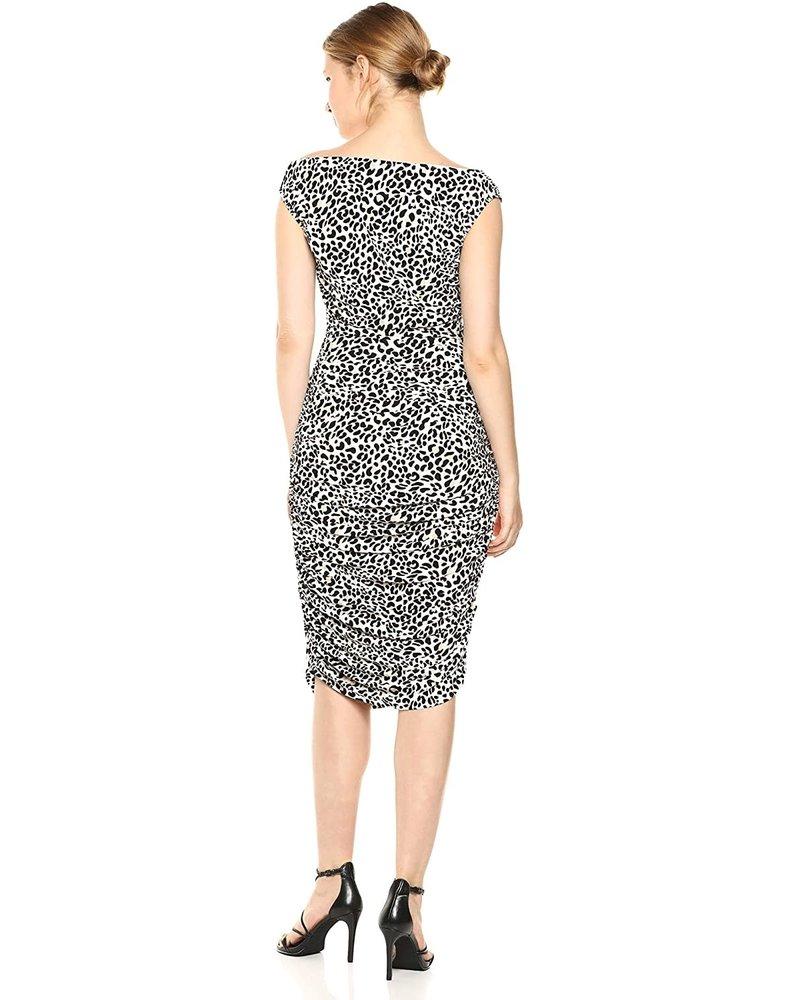 Norma Kamali Tara Dress/ Baby Leopard/ M