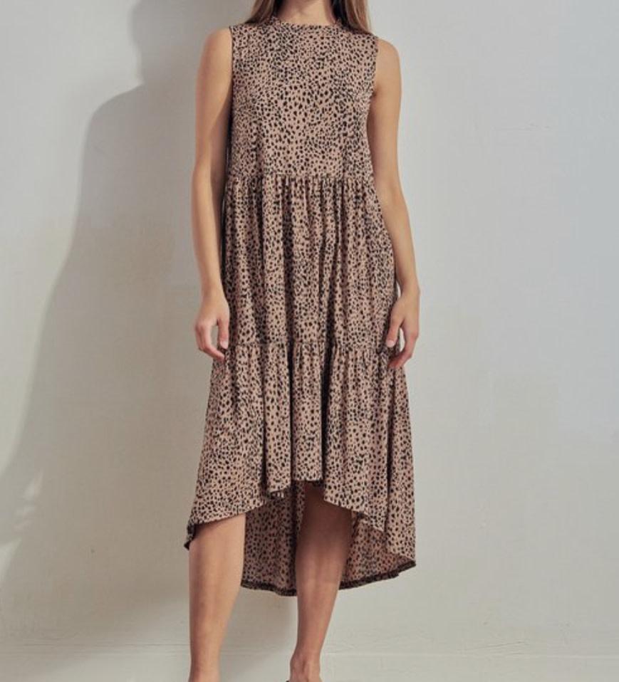 High Low Midi Dress